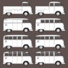 VW Type 2 Split Window Line Up by frenzix