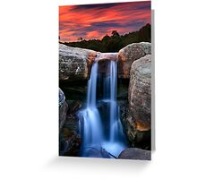 Sunset Cascade Greeting Card