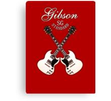Double Gibson sg white Canvas Print