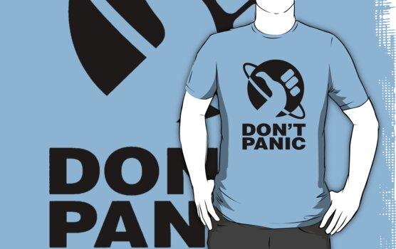 Don't Panic - Hitchhikers Guide by alwatkins1