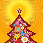 Spring Flowers Christmas Tree by fatfatin