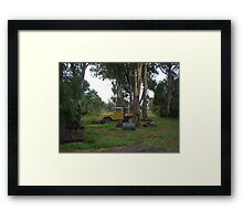 Farm Toyota Resting in the Shade Framed Print