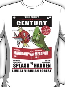 Magikarp vs Metapod - The Fight of The Century T-Shirt