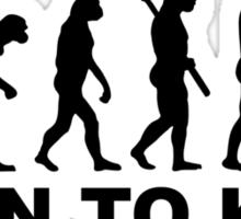Evolution born to knit Sticker