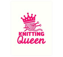Knitting queen Art Print