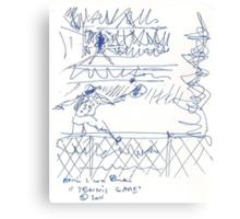 Tennis game(C2011) original thumbnail sketch scan Canvas Print