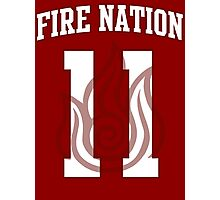 Fire Nation Jersey #11 Photographic Print