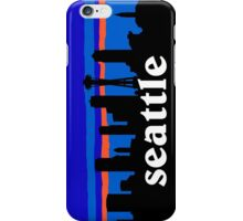 Seattle, skyline silhouette iPhone Case/Skin