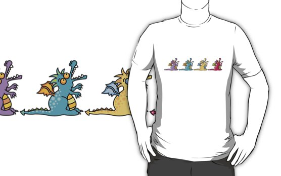 4 Magic Dragons T-shirt by fatfatin