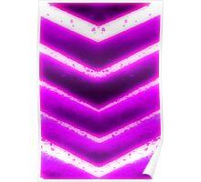 Purple chevron  Poster