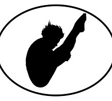 Diver Silhouette Oval by kwg2200