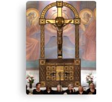 Crucifix in Art Nouveaux Canvas Print