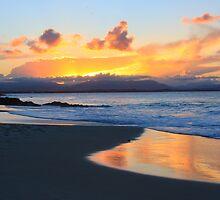 Sunset at Watego's Beach III by Nicholas Ward