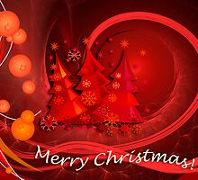 Red christmas design with text by CanDuCreations