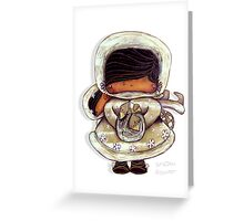 Snow Flower White Christmas Greeting Card