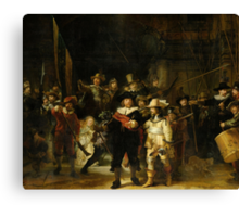 'Nachtwacht', Rembrandt, 'The Night Watch' Canvas Print