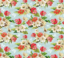 Colorful Vintage Floral Pattern by sale