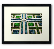 Formal Garden - Chateau Villandry, Loire Valley Framed Print