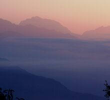 Annapurna Misty Sunrise 2 by Suze Chalmers