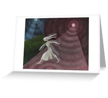 Why is she running ... ? Greeting Card