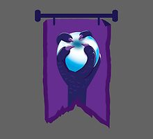 BANNER CREST SIGIL Purple claws grasping a white opal blue orb by jazzydevil