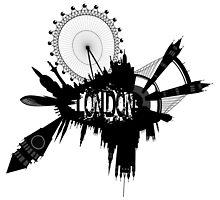 London Skyline In Grunge Style by siloto