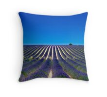 Lavander fields Throw Pillow