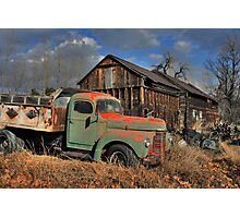 Look what's Behind Abandoned!! Photographic Print