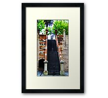 Stairway Lamp Framed Print