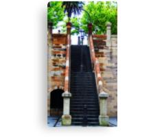 Stairway Lamp Canvas Print