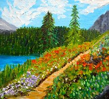 Day Escape, Colorado Mountains, Oil painting, wall art, home decor by artbykatsy
