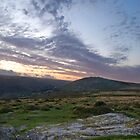 sunset on Dartmoor by David Clewer