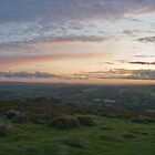 sunset over Dartmoor by David Clewer