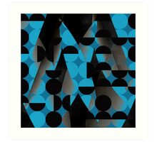 Geometry in blue Art Print