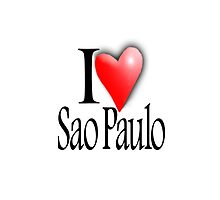 I LOVE, Sao Paulo, São Paulo, Brazil, Brazilian, Americas, South America by TOM HILL - Designer