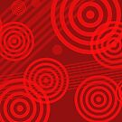 Circles & Lines in RED!  by Rachel Counts