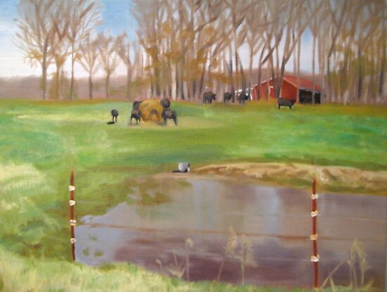 The Cow Pasture by Rayven Collins