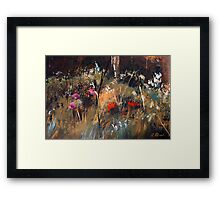 Blue Grass And Wild Flowers Framed Print