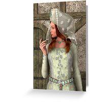 Medieval Lady Greeting Card