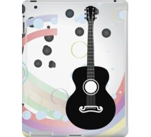 Background with acoustic guitar iPad Case/Skin