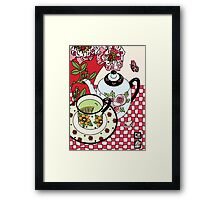 Green Tea and Rhododendrons Framed Print