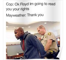 Mayweather Rights Poster