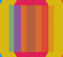 Colorful stripes and squares Sticker