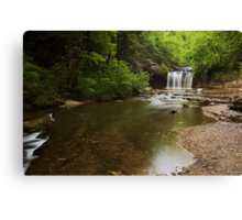 Springtime along Herisson river Canvas Print