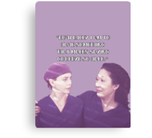 Cristina and Meredith goodbye Canvas Print