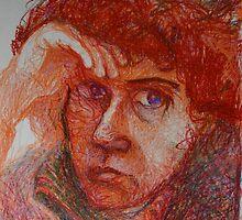 Red - Portrait Of A Woman by Nancy Mauerman