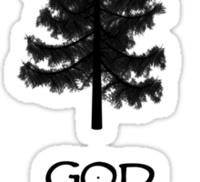 God Sae the Wood Sticker
