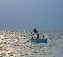 Pescador y su red.. by cieloverde
