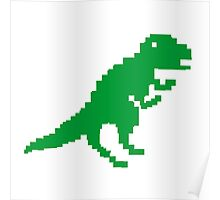 The Pixelated Dinosaur Poster