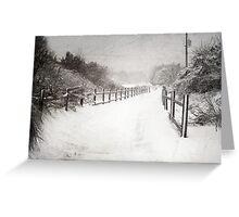 Silence of Snow  Greeting Card